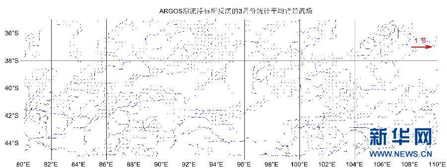 """(搜寻马航370航班)(1)""""雪龙""""号大洋科考队员绘制南印度洋""""流场图"""""""