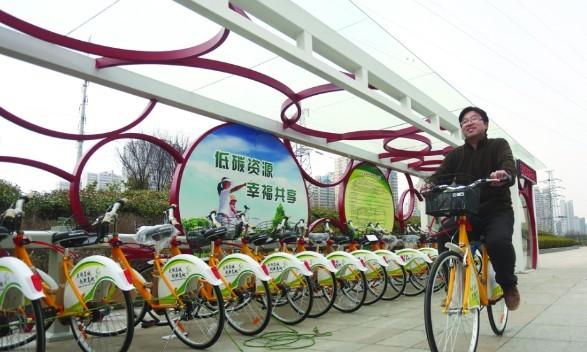 合肥最快月底能骑公共自行车 站点将会越来越多