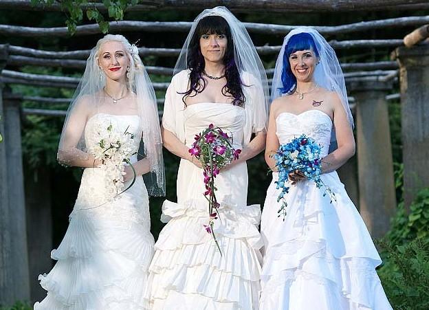 三角恋家庭:美国3名女同性恋结婚